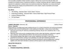 Welder Resume Examples by Chic Design Welding Resume 10 Resume Sample Template Resume Example