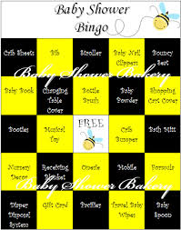 bumble bee baby shower theme bee theme baby shower bingo bumble bee baby shower