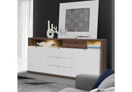 Wohnzimmerschrank Folieren Wohnwand Und Sideboard In Weiss Hochglanz Und Schlammeiche Woody