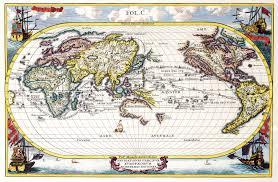 Navigation Map World Map 1700 Timekeeperwatches