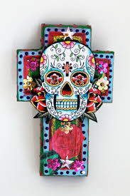 mexican sugar skull and cross tattoos in 2017 real photo