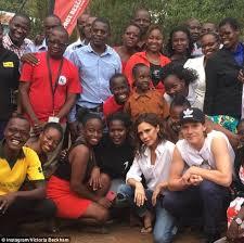 Doing her bit  Victoria had ventured on her charitable trip to Kenya back in October