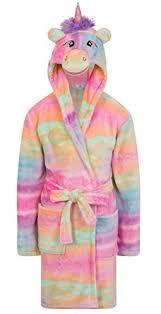 robe de chambre fille 8 ans filles polaire licorne arc en ciel multicolore robe de chambre de