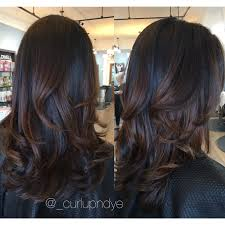 coke blowout hairstyle natural brown hairpainting balayage brownhair brunette blowout
