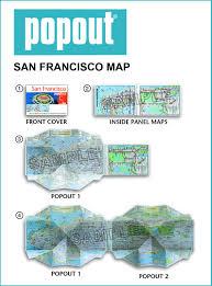 Downtown San Francisco Map by San Francisco Popout Map Popout Maps Popout Maps 0711600302486