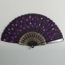 black lace fan black lace fan with purple sequins alex nld