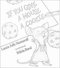 coloring pages inspiration graphic give mouse cookie