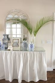 White Entry Table by Blue And White Entry Starfish Cottage