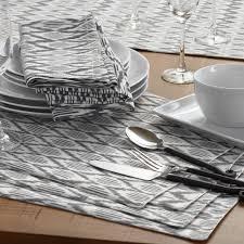black and white ikat table runner world market