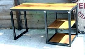 bureau metal noir bureau bois et noir bureau bois et metal bureau bois metal bureau