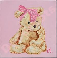 tableau deco chambre fille tableau bébé ours décoration chambre enfant bébé tableau enfant