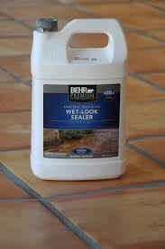 i used from home depot but you can find a sealer at any home improvement this one has a wet look but there are also low gloss sealers