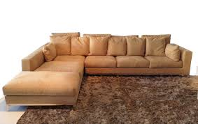 furniture modern brown velvet sectional couch with chaise and