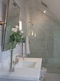 Small Attic Bathroom Sloped Ceiling by Painted Wood Paneling Ceiling Google Search Home Sloped