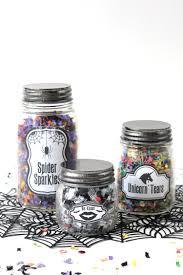 glow in the dark halloween confetti jars mod podge rocks