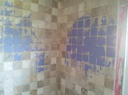 painted bathroom tile painting diy chatroom home improvement