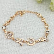 gold simple bracelet images Crystal charm bracelets music note link artistic pod jpg