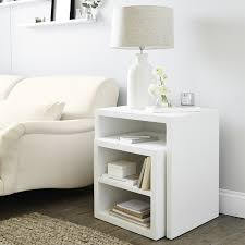 white nest of tables nest of tables white image collections table decoration ideas