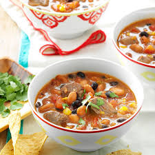 chunky taco soup recipe taste of home