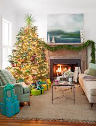 christmas livingroom decorating christmas trees traditional home