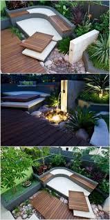 backyard courtyard designs unique 15 small courtyard decking bancos de madera en terraza outdoor exterior