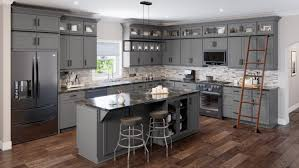 grey stained shaker kitchen cabinets grey shaker rta kitchen cabinets