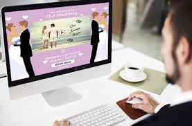 digital wedding invitations new online wedding invitations with rsvp poll options