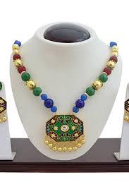 necklace designs making images Necklaces buy designer necklace set online at craftsvilla jpg