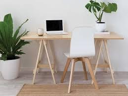 Trestle Computer Desk Mocka Trestle Desk Available In Black White U0026 Natural