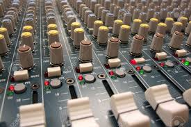 Mixing Table Here Is A Sound Man U0027s View Of A Mixing Board Console At The