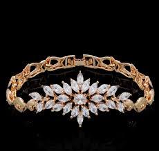 luxury bracelet images 18k gold plated luxury marquise cut cz diamond bracelet mr005br png