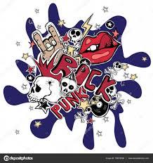 fondo abstracto de vector loco punk rock u2014 vector de stock