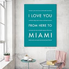 miami city home decor gift idea hopskipjumppaper