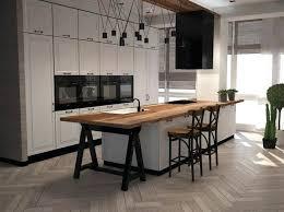 cuisine avec plan de travail en bois cuisine blanche plan de travail bois copyright yqq bilalbudhani me