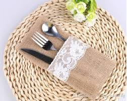 Shabby Chic Online Stores by Burlap Cutlery Holder Vintage Shabby Chic Jute Lace Tableware