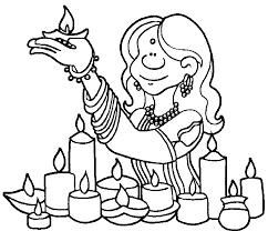 diwali celebration kids coloring page wecoloringpage