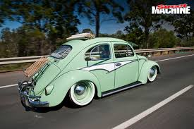 volkswagen beetle green vw bug life slammed beetles street machine