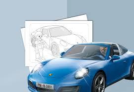 coloriage playmobil porsche 911 targa 4s playmobil france