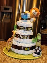 kolton u0027s diaper cake a small christmas tree skirt is used to