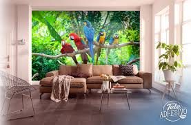 parrot group br wall murals five parrots