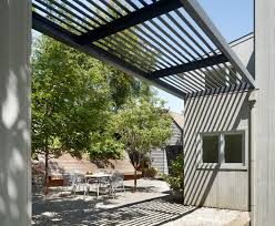metal trellis with wood siding patio contemporary and contemporary