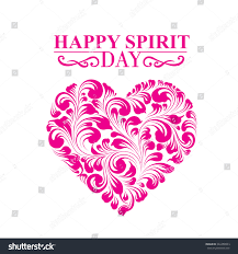 purple shade spirit day heart colored purple shade stock vector 322458503