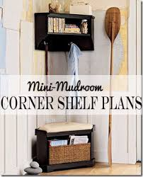 Free Wood Corner Shelf Plans by Remodelaholic Diy Corner Shelf With Storage