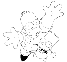 simpsons coloring pages coloring kids