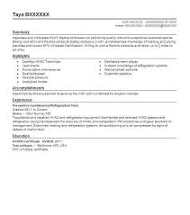 resume exles for 2 hvac technician resume exles best and refrigeration cooperative