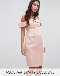 maternity occasion wear asos maternity asos maternity bow cold shoulder occasion dress