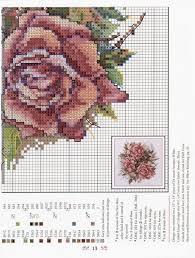 76 best křížková výšivka květy images on cross stitch