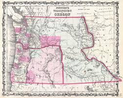 Maps Of Washington by File 1862 Johnson Map Of Washington And Oregon W Idaho
