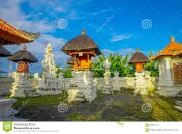 bali indonesia march 11 2017 entrance of an indu temple in