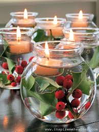 Make Your Own Christmas Centerpiece - 35 creative diy christmas decorating ideas tea light candles